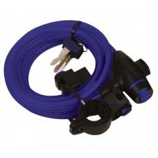 Трос противоугонный Oxford BLUE CABLE LOCK 1.8m X 12mm