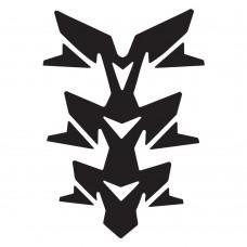 наклейка защитная на бак  Oxford Gel Spine Invader Black