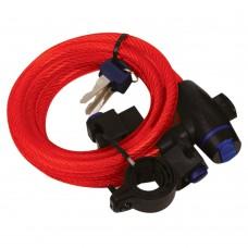 Трос противоугонный Oxford RED CABLE LOCK 1.8m X 12mm