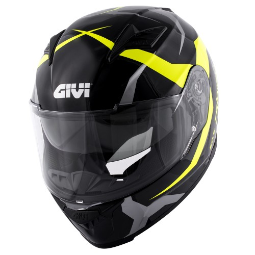 Мотошлем GIVI 50.5 TRIDION Vortix black neon yellow