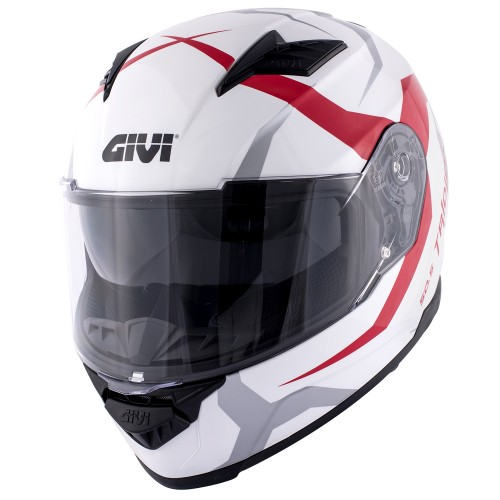 Мотошлем GIVI 50.5 TRIDION Vortix red gloss white