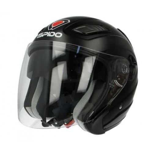 Шлем мотоциклетный ISPIDO AVIATOR MATT BLACK