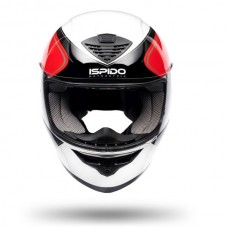 Шлем интеграл ISPIDO PULSE WHITE/BLACK/RED