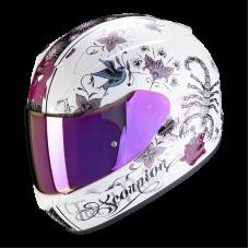 Шлем SCORPION CHICA EXO-390 AIR Белый Глянцевый