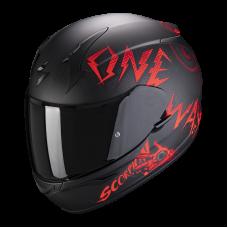 Шлем SCORPION ONEWAY EXO-390 AIR Чернокрасный Матовый