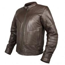 Кожаная куртка мото  HEVIK GARAGE FOR MAN Brown (последний размер 2XL)
