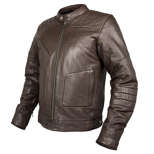 Кожаная куртка мото  HEVIK GARAGE FOR MAN Brown