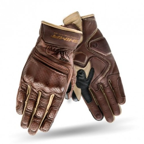 Мотоперчатки кожаные SHIMA AVIATOR BROWN