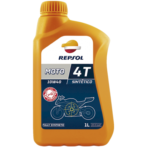 Масло моторное Repsol Moto Sintetico 4T 10W40, 1л